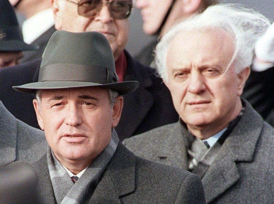 Mikhail Gorbachev - Eduard Shevardnadze