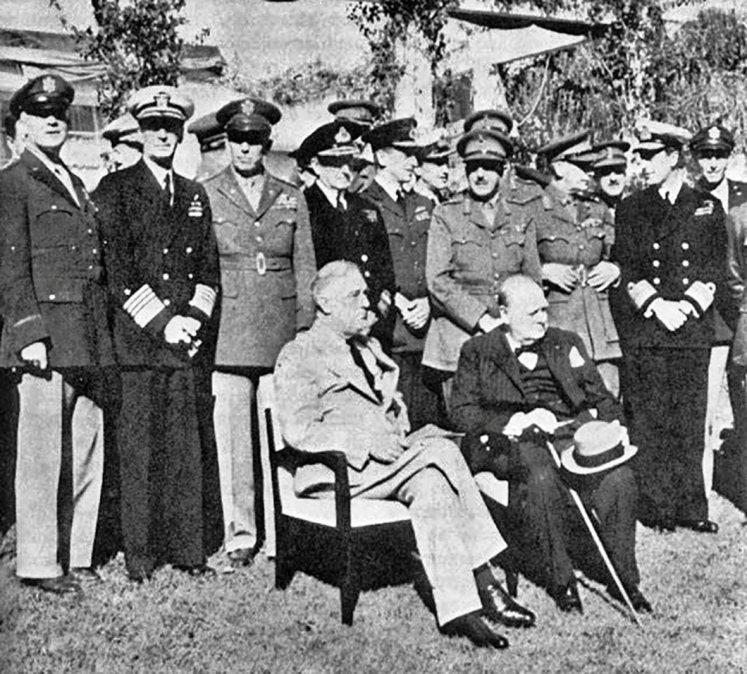 La fase final de la II Guerra Mundial se definió en Casablanca hace 78 años