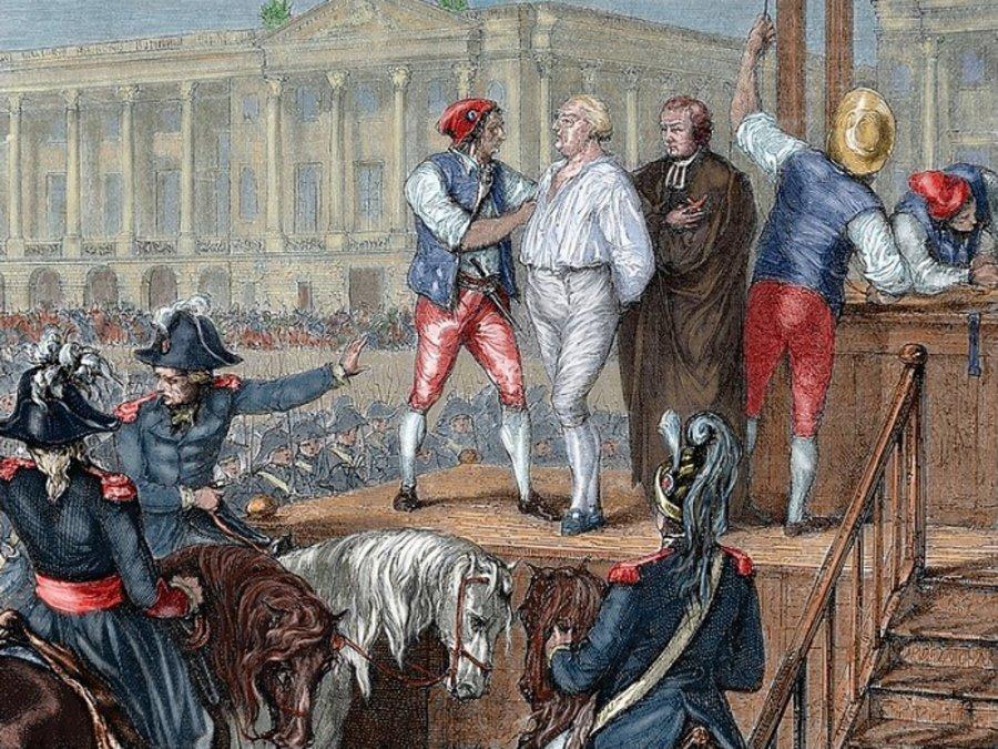 Ejecución de Luis XVI. Grabado anónimo