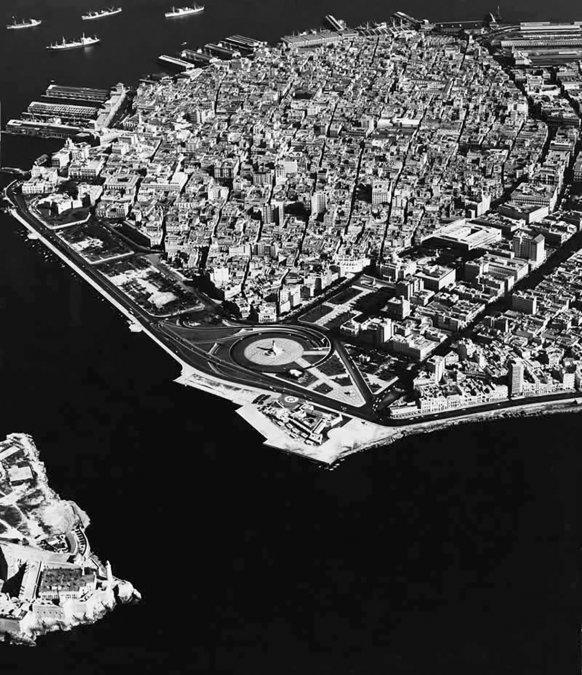La Habana Vieja desde al aire. Años 50