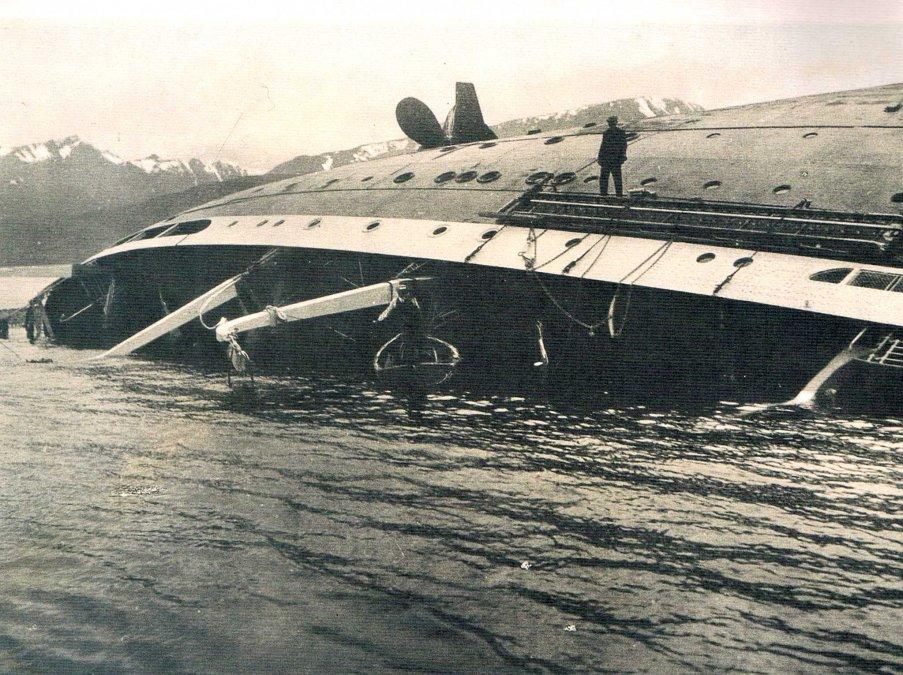 Naufragio del trasatlántico Monte Cervantes (22/01/1930)