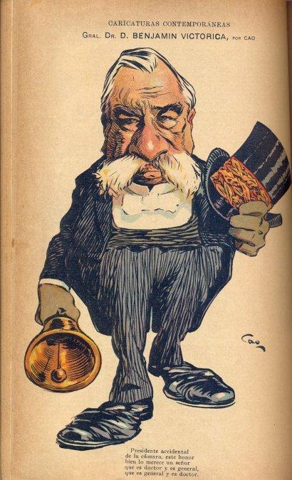 Caricatura del general Victorica - Caras y caretas