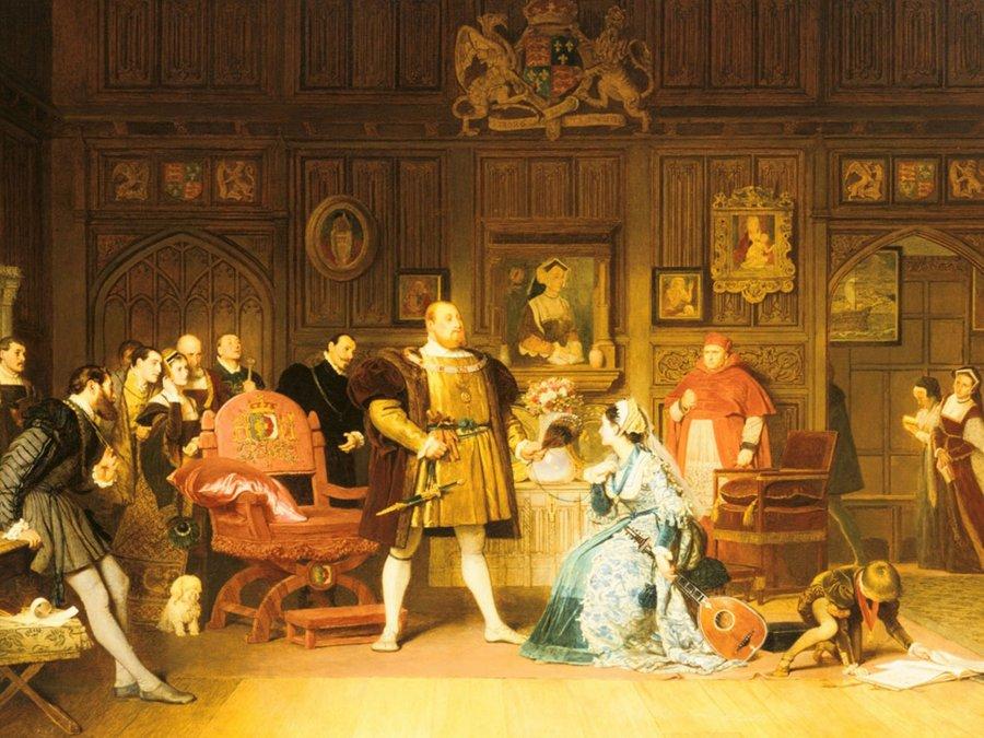 Las bajezas de los cortesanos de Enrique VIII