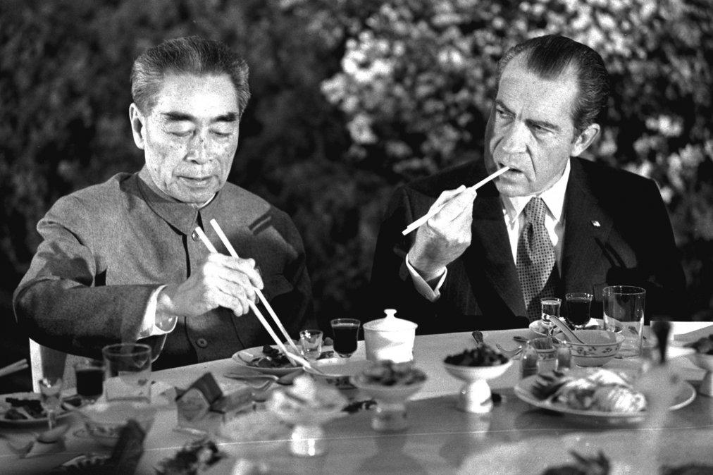 Richard Nixon y Chou En-lai