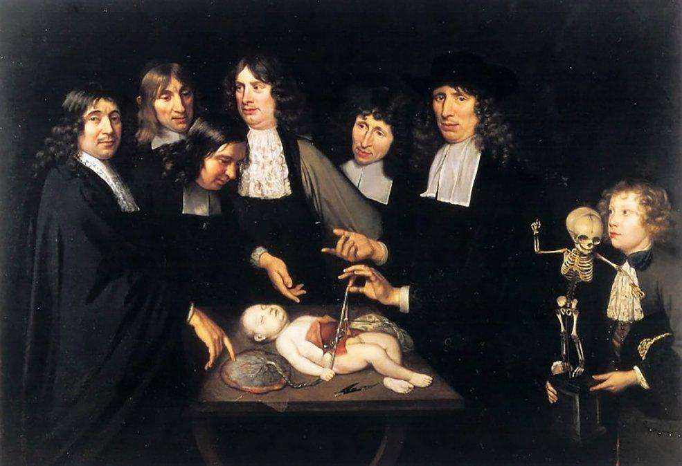 La Lección de Anatomía del Dr. Frederik Ruysch del pintor Jan Van  Neck