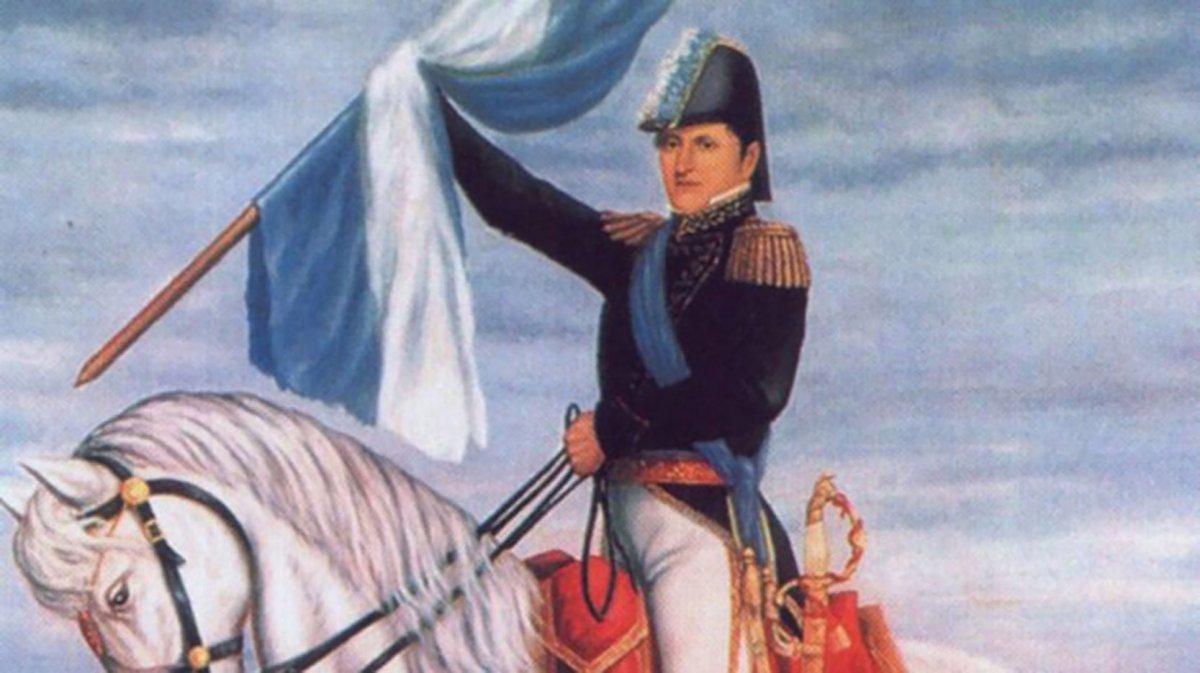 Primer izamiento de la Bandera Argentina