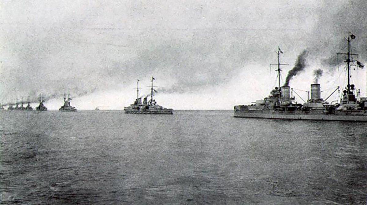 Escuadrón alemán de la Flota de Alta Mar en 1917. Flota Alta Mar Alemania Batalla Jutlandia