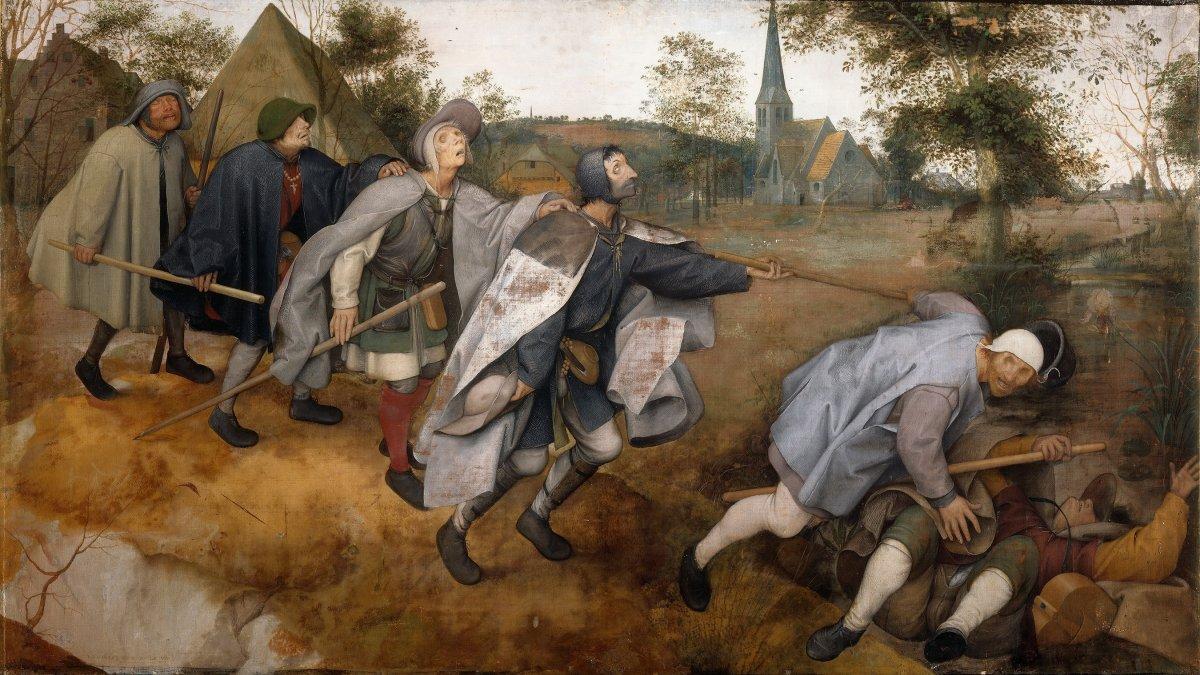 Parábola de los ciegos • Pieter Brueghel • 1568 • Museo de Capodimonte