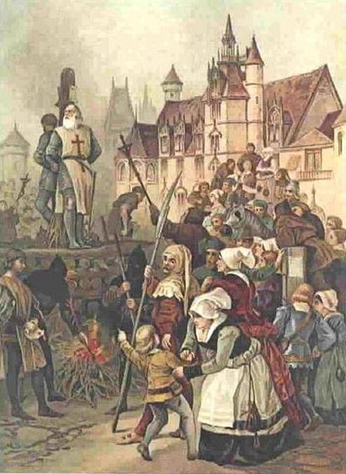La maldición de Jacques de Molay, el último Gran Maestre de los Templarios