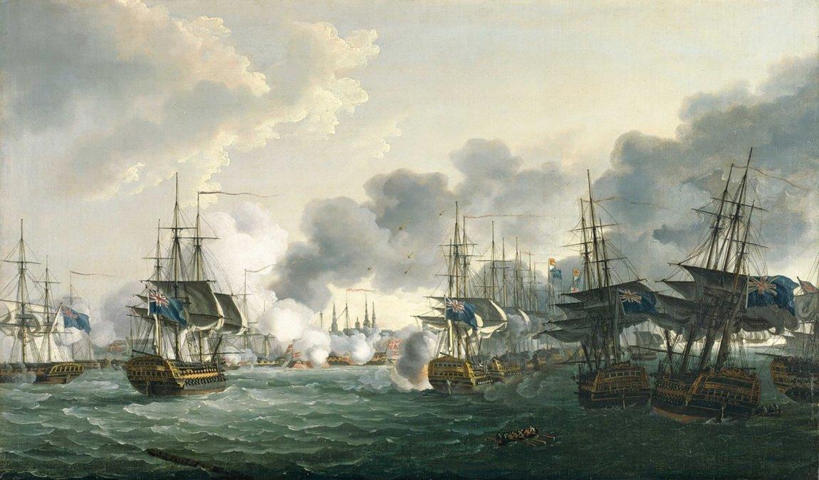 La batalla de Copenhague (2 de abril de 1801)