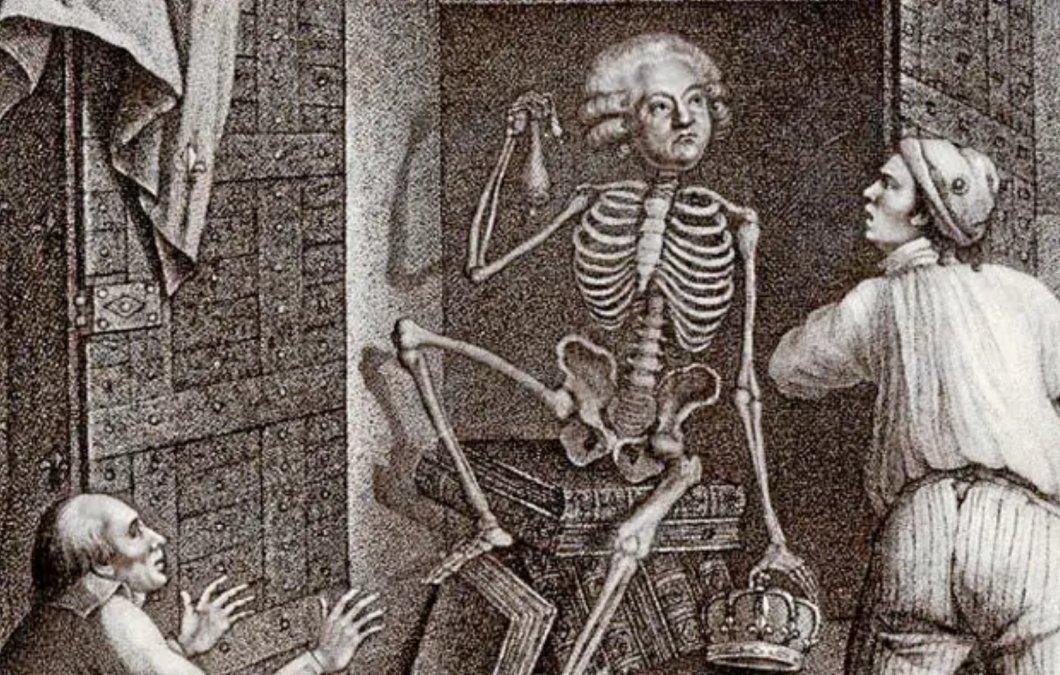 Un dibujo del siglo XIX recrea la inhumación del cadáver de Mirabeau
