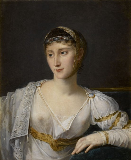 Retrato de Paulina Bonaparte - Robert Lefèvre - 1806 - Óleo sobre lienzo - Palacio de Versalles.