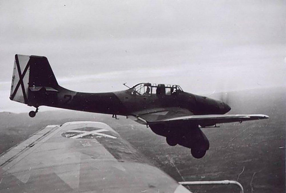 Aviones Junkers Ju 87A de la Legión Cóndor.