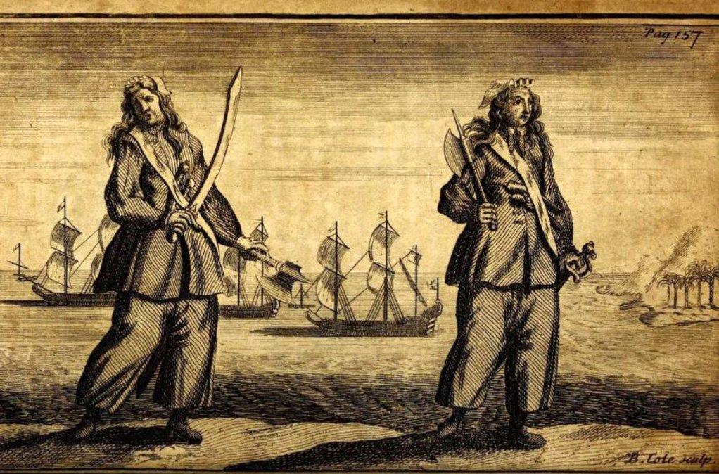 Las piratas Mary Read y Anne Bonny