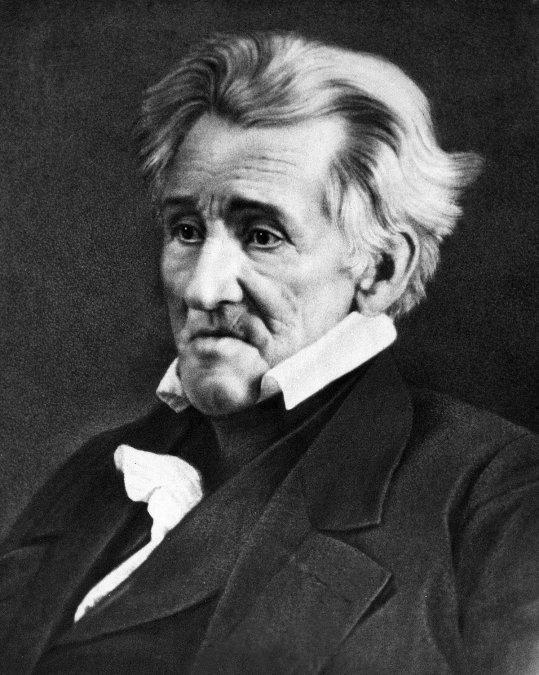 Andrew Jackson fotografiado por Mathew B. Brady
