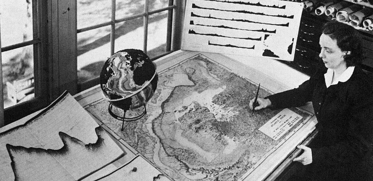 Marie Tharp: la cartógrafa del suelo oceánico
