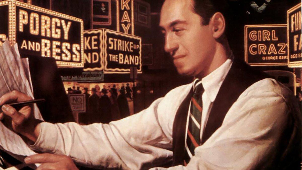 El compositor y pianista estadounidense George Gershwin