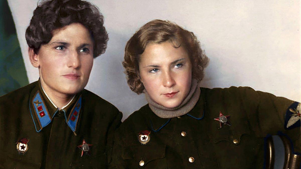 Ekaterina Budánova (izq.) y Lidia Litviak.