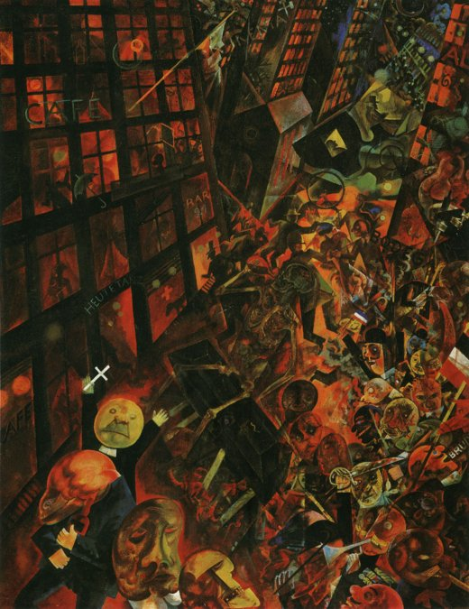 A Oskar Panizza • George Grosz • 1917/18  • Galeria Estatal