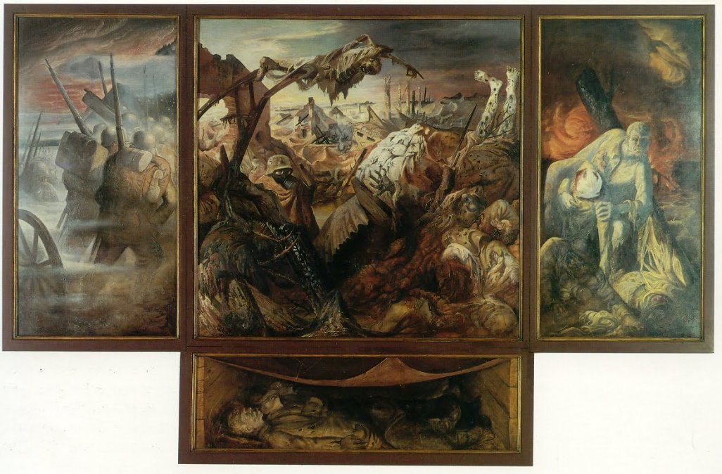 Tríptico de Guerra • Otto Dix • 1929/32 - Gemäldegalerie Alte Meister