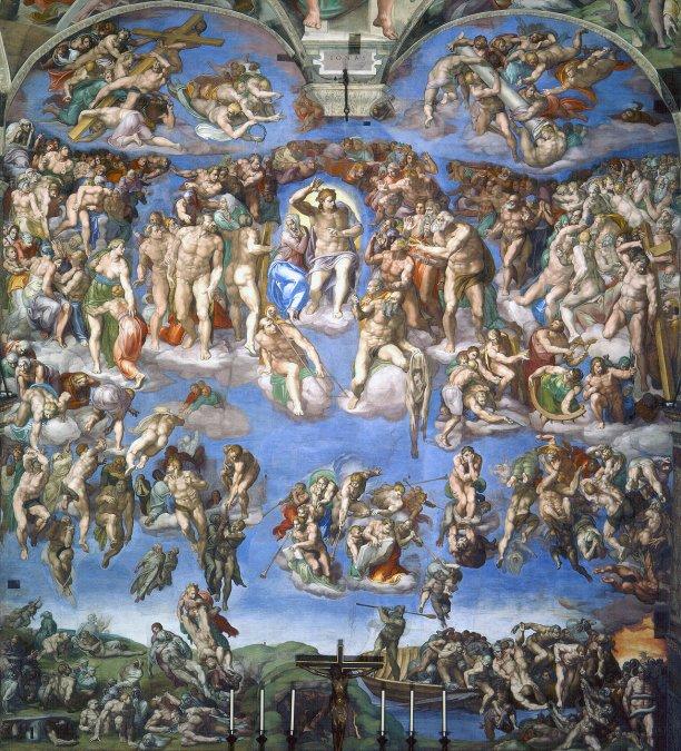 El Juicio final • Miguel Ángel • 1541 • Capilla Sixtina