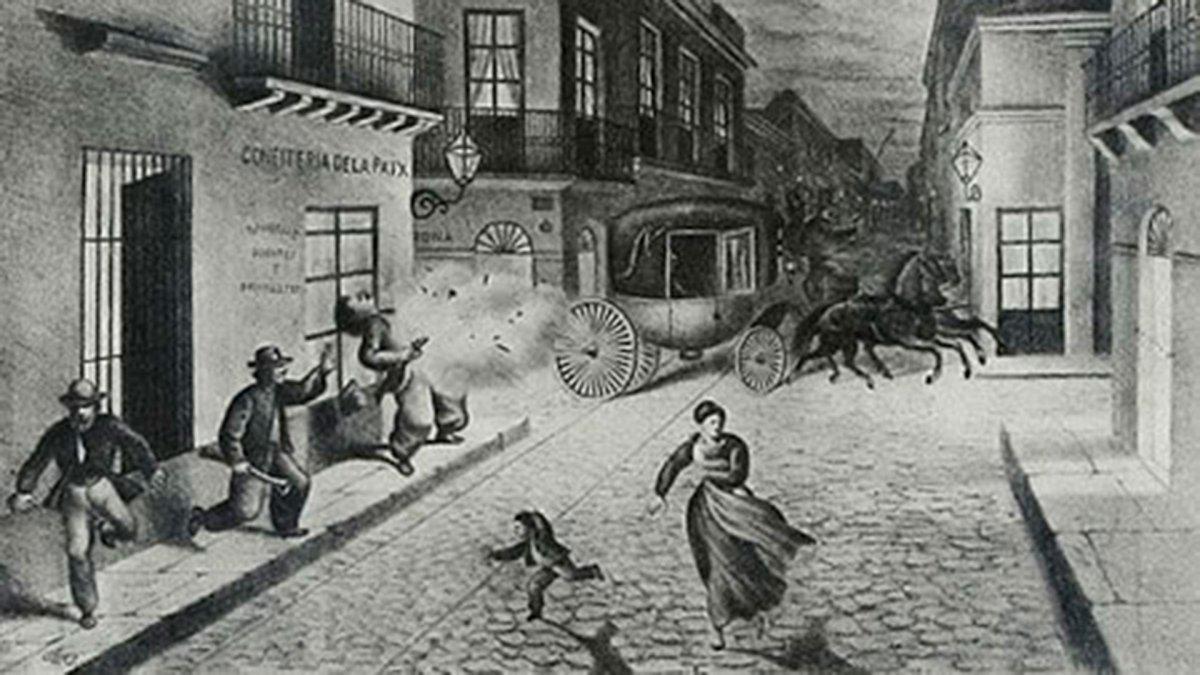 El atentado contra Sarmiento