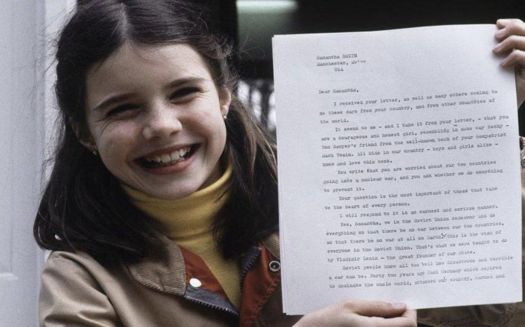 Samantha Reed Smith, la niña que no pudo ser Nobel de la Paz