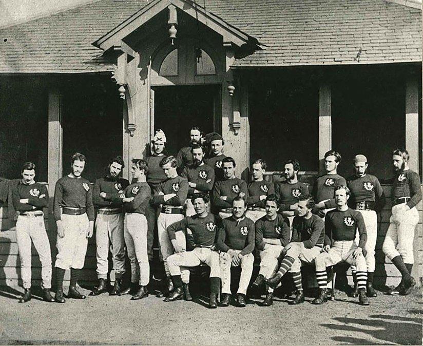 Selección de rugby de Escocia - Equipo que en 1871 jugó su primer partido frente a Inglaterra.