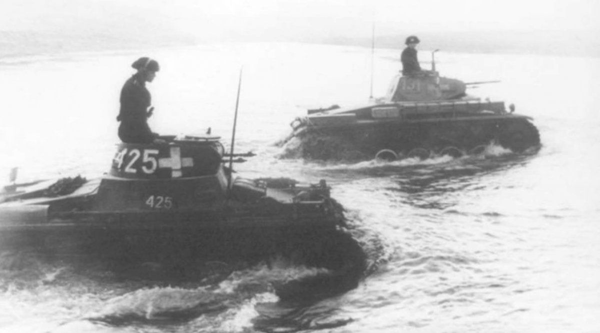 Tanques alemanes en la invasión de Polonia.