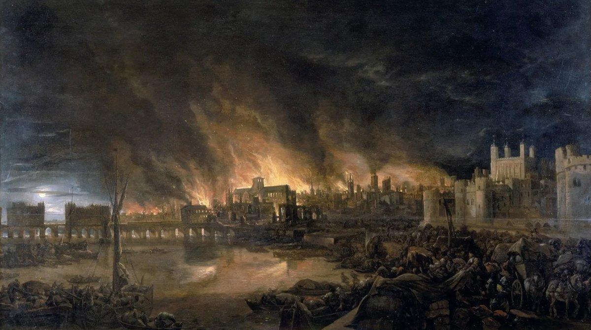 En 1666 en Londres se declara el Gran  Incendio