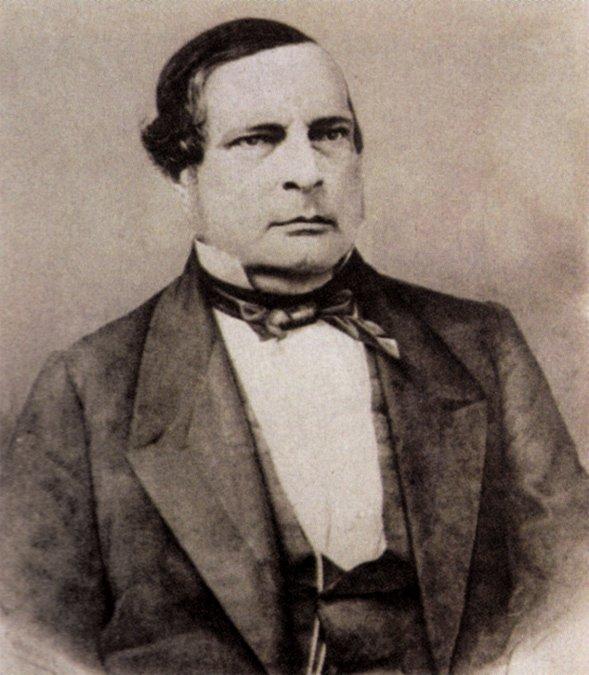Santiago Derqui fue el segundo presidente después de la redacción de la Constitución Nacional