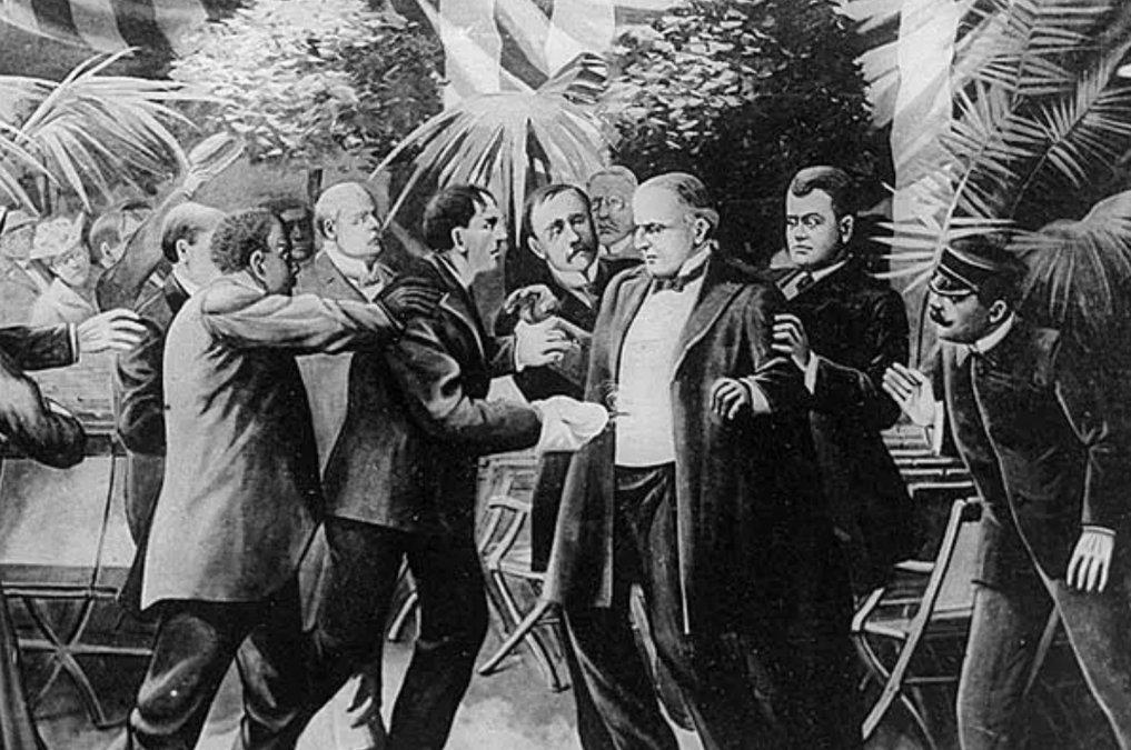 Una ilustración muestra el momento en que el presidente de Estados Unidos