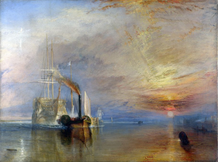 El último viaje del «Temerario» - Joseph Mallord William Turner - 1839