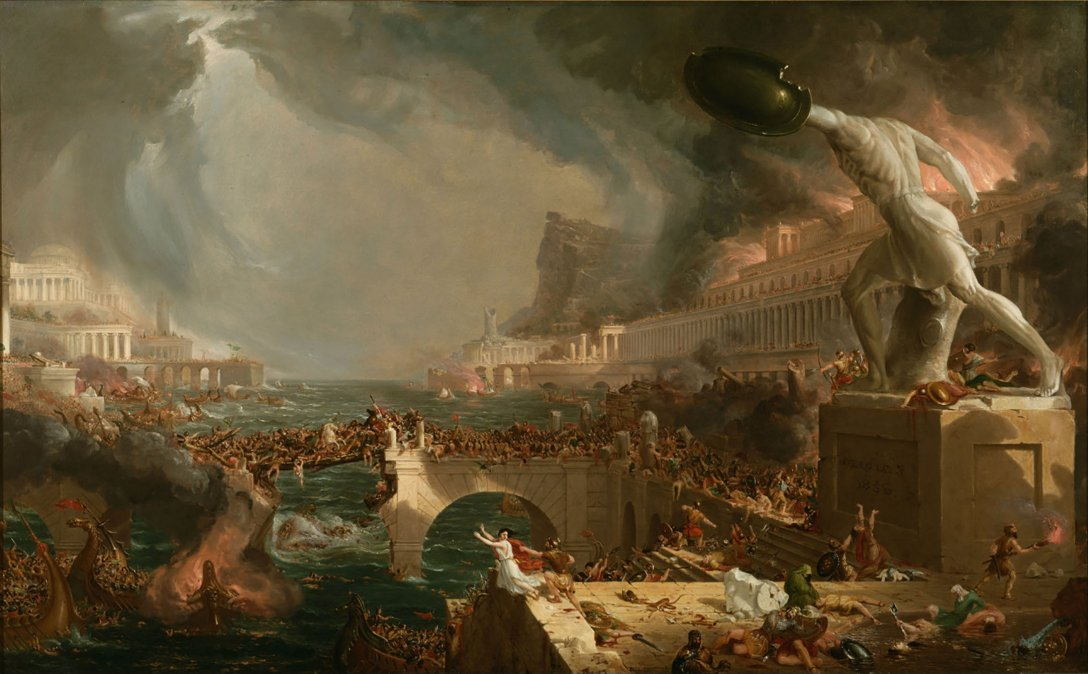 El curso del imperio. Destrucción - Thomas Cole (1836)