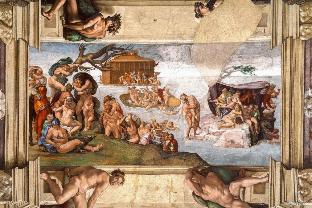 El Diluvio Universal - Miguel Ángel - 1509