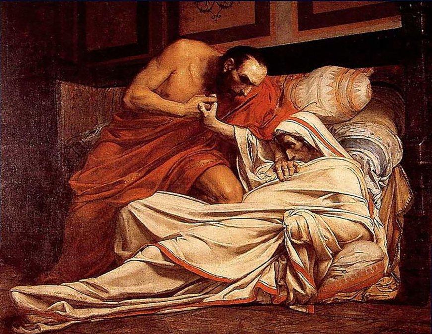 La muerte de Tiberio