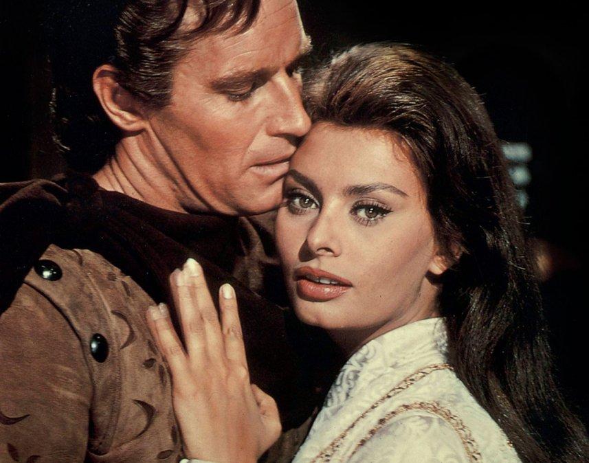 Sofía Loren y Charlton Heston en El Cid